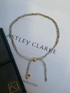 Astley Clarke 18ct Gold Plated Vermeil Moonstone Beaded Kula Friendship Bracelet