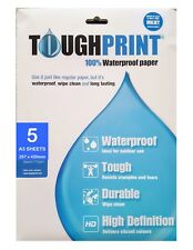 A3 Water Proof Paper - Pack of 5 sheets for Inkjet printers
