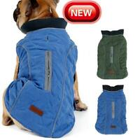 Retro Soft Warm Coat For Pet Dog Winter Padded Vest Jacket Clothes Apparel