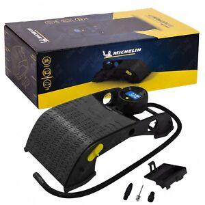 Michelin Digital Double Barrel Cylinder Foot Pump Air Inflator Car Tyres Bikes