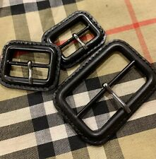 Burberry Buckle Replacement For Trench Coat /Mac Black Set Of 3