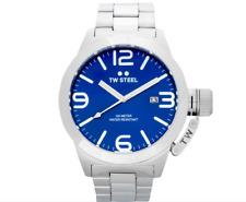 TW Steel Men's 50mm Canteen CB12 Stainless Steel Watch - Blue/Steel