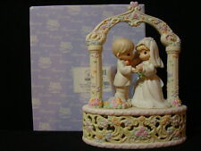 t Precious Moments-Beautiful HUGE Wedding Musical Topper-Very Nice