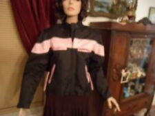NEW! WOMAN'S BLACK & PINK WATER RESISTANT MOTORCYCLE JACKET SZ.S MADE BY  I 10 K