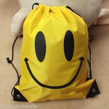 Gym Emoji Swim Bag Smiley PE Swimming Drawstring Emoticon Festival Backpack
