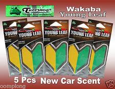 5 Packs Treefrog WAKABA YOUNG LEAF  Car Air Freshener NEW CAR Scent.JDM