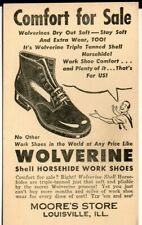 Wolverine Horsehide Work Shoes Louisville Il Moore's Store Ad Postcard 1940s