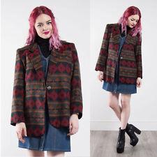 Femme vintage aztèque motif blazer jacket casual western rétro smart 14