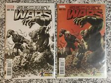 Secret Wars #1 Comic Con Box Sketch & Color Variant Covers Set of 2 Mike Deodato