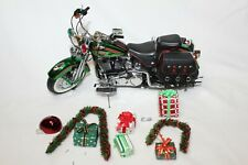 Franklin Mint 1:10 Scale HARLEY-DAVIDSON CHRISTMAS 2001 MOTORCYCLE - LOOSE