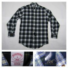 Brooks Brothers Mens Plaid Blue Oxford Button Front Long Sleeve Shirt Small New