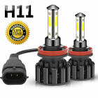 4 Sides H11 LED Headlight High or Low Beam Bulbs 1800W 216000LM 6000K White 2Pcs <br/> ⭐Super Mini 4-Side⭐US STOCK⭐FAST SHIPPING⭐Long Warranty