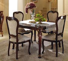 Esstisch Wohnzimmer Esszimmer Tisch Quadratisch Ausziehbar Nussbaum Klassisch
