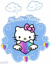 """5.5"""" Hello kitty angel & clouds prepasted wall border cut out character"""