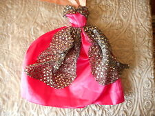 BARBIE DOLL GOWN BALL DRESS PINK WITH SILVER NEW