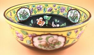 Art Deco S Hancock & Sons Corona Ware Old Woodstock design bowl / centrepiece.