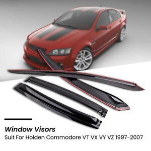 4pcs Weathershields Window Visors for Holden Commodore VT VX VY VZ Sedan 97-2005