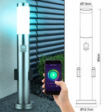 Smart RGB LED Außen Steh Lampe Steckdose Sensor Alexa Google App Leuchte dimmbar