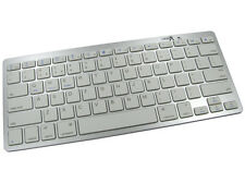Bluetooth Keyboard Slimline Portable IOS Android Windows Iphone Ipad PC SILVER