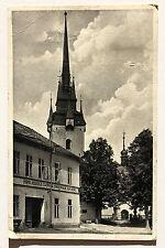 24919 Foto AK Kornitz Kirche Gasthaus Zur Eiche Hans Koukal Sudetenland 11.9.39