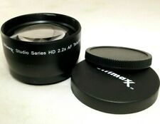 Ultimax HD 2.2X AF Telephoyo Lens AUX Attachment 55mm threaded