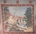 "Brugge Belgium European Woven Tapestry Wall Hanging 18 X 18"" Rare"