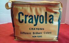 Rare Vintage Crayola Crayon Storage Bag Plastic Carrying Crayons Coloring Color