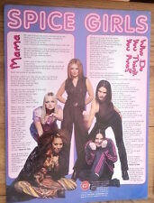 SPICE GIRLS Who Do You think You Are lyrics(2) magazine PHOTO/clipping 11x8 inch