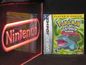 Nintendo GBA Game Boy Advance Pokemon Leaf Green New Factory Sealed Near-Mint