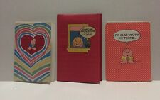 "3 Ziggy Greeting Cards And Envelopes - ""Thinking Of You / Valentine / Friend�"