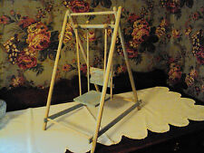 Antique 15' blue doll swing, disasembles