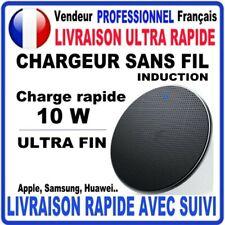 Chargeur sans Fil Induction RAPIDE 10W Iphone 11 X XR Samsung S10 S9 S8