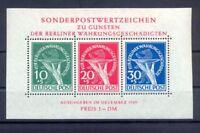 Berlin Block 1 III Währungsgeschädigte mit Plattenfehler postfrisch (er139)