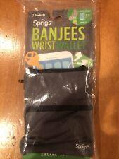 Sprigs Banjees Wrist Wallet 2 Pocket Running Hiking Travel (44)