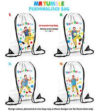 Personalised Mr Tumble CBeebies Drawstring Bag PE Gym Any Name School 4 designs