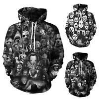 Halloween Mens 3D Print Hoodie Sweatshirt Pullover Hooded Coats Jacket Tops US