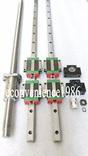 HGR20-400mm Hiwin Linear rail & HGW20CC &DFU2005-400mm Ballscrew&BF15/BK15 Kit