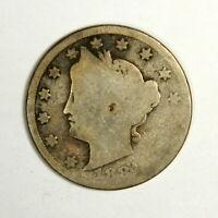 "1884 Liberty ""V"" Nickel , AG , US Coin!"