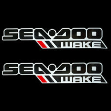 Sea Doo 210 / 230 Wake Black / White / Red 30 x 5 7/8 Inch Vinyl Boat Logo Decal