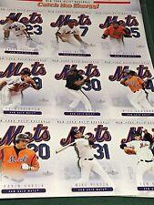 2004 Fleet Uncut Baseball Card Sheet NY Mets Piazza