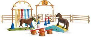 Schleich Pony Agility Training  42481 Schleich Horse Club Set  Farm World Set
