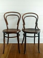 2 Vintage Bentwood Thonet Hoffman Chairs Walnut
