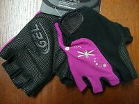 Performance Womens Century Gel Cycling Gloves 113797 Sz Small NWT Pink/Black