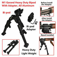 M1 Garand All Aluminum Heavy Duty Bipod and Adapter Combo Picatinny Weaver Mount