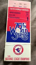1979 World Series Game 1 Ticket Stub - Pittsburgh Pirates Vs Baltimore Orioles