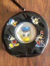 Vtg Donal Duck Head Walt Disney Production Coin Purse Wallet Hand Bag Change