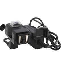 Presa per caricabatterie manubrio moto Dual USB 12V impermeabile con interrutAUI