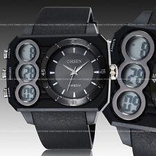 OHSEN Mens Army Military Digital Analog Light Quartz Sport Run Wrist Watch Black