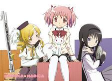 Madoka Magica Homura, Madoka & Mami Wall Scroll Anime Fabric Poster (GE-77601)