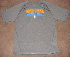 NBA Knicks Adidas Black Climalite Short Sleeve T Shirt M Solid